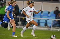 SAN JOSE, CA - DECEMBER 6: Kennedy Wesley #15 of the Stanford Cardinal during a game between UCLA and Stanford Soccer W at Avaya Stadium on December 6, 2019 in San Jose, California.