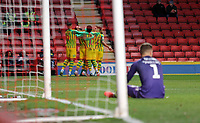 West Bromwich Albion players celebrate during Charlton Athletic vs West Bromwich Albion, Sky Bet EFL Championship Football at The Valley on 11th January 2020