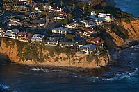 aerial photograph Pacific Coast clifftop residences, Orange County, California
