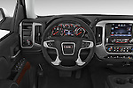 Car pictures of steering wheel view of a 2015 GMC Sierra 1500 SLE 4 Door Pick-up Steering Wheel