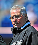 8 March 2010: Former Florida Marlins Manager and 2003 World Series winning skipper Jack McKeon watches his team take batting practice prior to a Spring Training game against the Washington Nationals at Space Coast Stadium in Viera, Florida. The Marlins defeated the Nationals 12-2 in Grapefruit League action. Mandatory Credit: Ed Wolfstein Photo