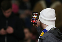 Leeds fan<br /> Photographer Rob Newell/CameraSport<br /> <br /> Emirates FA Cup Third Round - Arsenal v Leeds United - Monday 6th January 2020 - The Emirates Stadium - London<br />  <br /> World Copyright © 2020 CameraSport. All rights reserved. 43 Linden Ave. Countesthorpe. Leicester. England. LE8 5PG - Tel: +44 (0) 116 277 4147 - admin@camerasport.com - www.camerasport.com