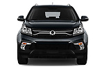 Car photography straight front view of a 2017 Ssangyong Korando Quartz 5 Door SUV