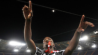 Calcio, finale Tim Cup: Milan vs Juventus. Roma, stadio Olimpico, 21 maggio 2016.<br /> Juventus&rsquo; Paul Pogba celebrates at the end of the Italian Cup final football match between AC Milan and Juventus at Rome's Olympic stadium, 21 May 2016. Juventus won 1-0 in the extra time.<br /> UPDATE IMAGES PRESS/Isabella Bonotto