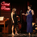 """Lindsay Lavin and Cassie Nadeau during the Epress preview for """"Truffles: Music! Mushroom Murder!!!"""" at Secret Room on November 15, 2019 in New York City."""
