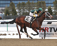 Heart Butte captures The Evening Attire at Aqueduct, New York....1/15/11....Ridden by David Cohen