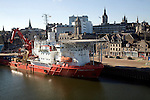 Skandi Inspector ship, Port harbour, Aberdeen, Scotland