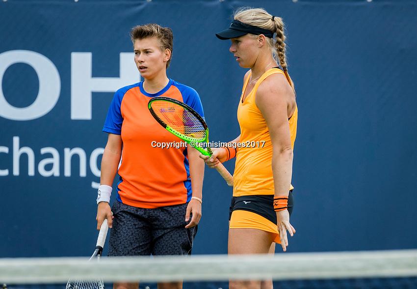 Den Bosch, Netherlands, 12 June, 2017, Tennis, Ricoh Open, Woman's doubles: Kiki Bertens (NED)/Demi Schuurs (NED) (L)<br /> Photo: Henk Koster/tennisimages.com