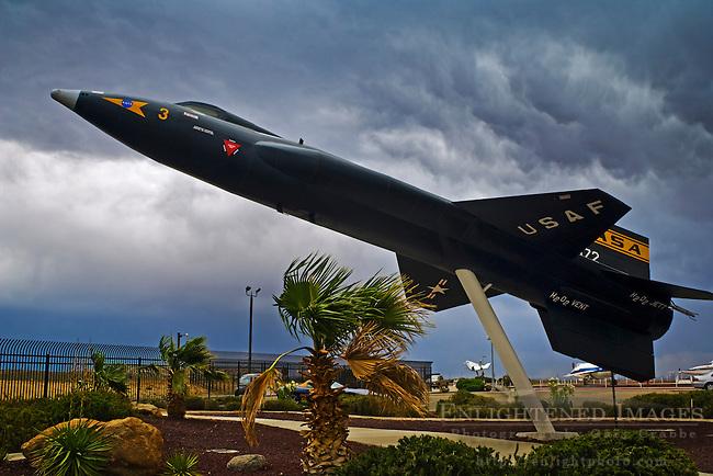 X-15 Rocket Plane on display at NASA Dryden Flight Research Center, Edwards Air Force Base, near Mojave, California