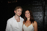 """Charles Aitken poses with castmate One Life To Live Florencia Lozano """"Tea Delgado"""" as they participate in a play reading of Fuente Ovejuna by Cusi Cram on September 22, 2011 at The Bank Street Theater, New York City, New York.  (Photo by Sue Coflin/Max Photos)"""