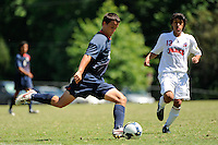 Luis Gil (10) of the U-17 MNT. The U-17 MNT played the Carolina Dynamo during the 2009 US Soccer Development Academy Summer Showcase at Bryan Park Soccer Complex in Browns Summit, North Carolina, on June 29, 2009.