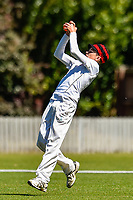 A Medbury fielder takes a catch  during the National Primary School Cup Final between Medbury School v Huntley School at the Bert Sutcliffe Oval, Lincoln University, Christchurch, New Zealand. Wednesday 22 November 2017. Photo: John Davidson/www.bwmedia.co.nz