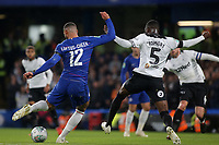 Ruben Loftus-Cheek of Chelsea takes a shot at the Derby County goal during Chelsea vs Derby County, Caraboa Cup Football at Stamford Bridge on 31st October 2018