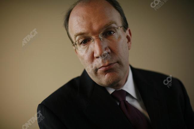 Stuart Bowen, Special Inspector General for Iraq Reconstruction, at his office in Crystal City, Arlington, Virginia. October 30, 2007