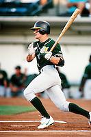 Eric Byrnes of the Modesto A's during a California League baseball game circa 1999. (Larry Goren/Four Seam Images)