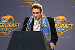 16 January 2004: Ryan Cochrane of Santa Clara University was taken by the San Jose Earthquakes with the fifth overall pick of the draft. The Major League Soccer SuperDraft was held at the Charlotte Convention Center in Charlotte, NC as part of the annual National Soccer Coaches Association of America convention..