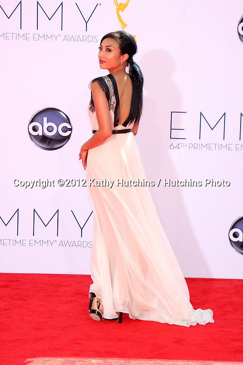 LOS ANGELES - SEP 23:  Jeannie Mai arrives at the 2012 Emmy Awards at Nokia Theater on September 23, 2012 in Los Angeles, CA