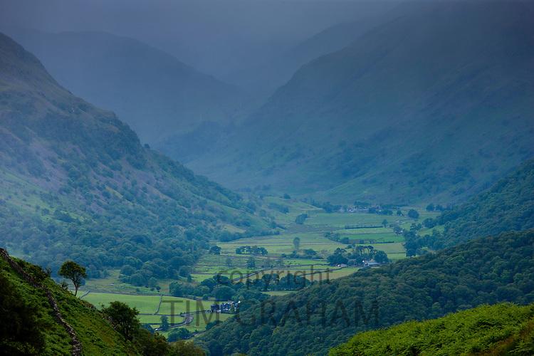 Lakeland vista near Watendlath in the Lake District National Park, Cumbria, UK