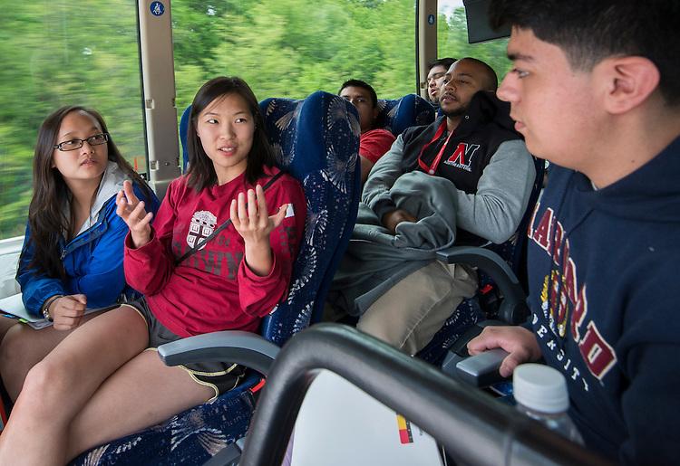 Houston ISD EMERGE students visit Clark University, June 4, 2014.