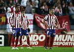 Atletico de Madrid's Cleber Santana and Raul Garcia dejected during La Liga match. October, 24 2009. (ALTERPHOTOS/Alvaro Hernandez).