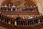 January 19, 2020; MLK Candlelight Prayer Service.  (Photo by Barbara Johnston/University of Note Dame)