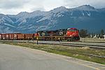 Canada's railroad system hauling freight through Canada