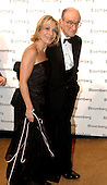 Federal Reserve Chairman Alan Greenspan, right, and his wife, NBC-TV correspondent Andrea Mitchell, left, arrive at the Bloomberg party following the 2005 White House Correspondents Dinner in Washington, D.C. on April 30, 2005.<br /> Credit: Ron Sachs / CNP<br /> (RESTRICTION: NO New York or New Jersey Newspapers or newspapers within a 75 mile radius of New York City)