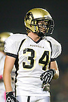 Lawndale, CA 10/21/11 - Andrew Jessop (Peninsula #34) in action during the Peninsula - Leuzinger varsity football game.