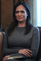 White House Press Secretary Stephanie Grisham attends a Cabinet Meeting with President Donald Trump in the Cabinet Room of the White House on November 19, 2019 in Washington, DC.<br /> Credit: Oliver Contreras / Pool via CNP/AdMedia