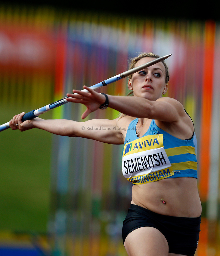 Photo: Richard Lane/Richard Lane Photography..Aviva World Trials & UK Championships athletics. 12/07/2009. Rosie Semenytsh in the women's javelin..
