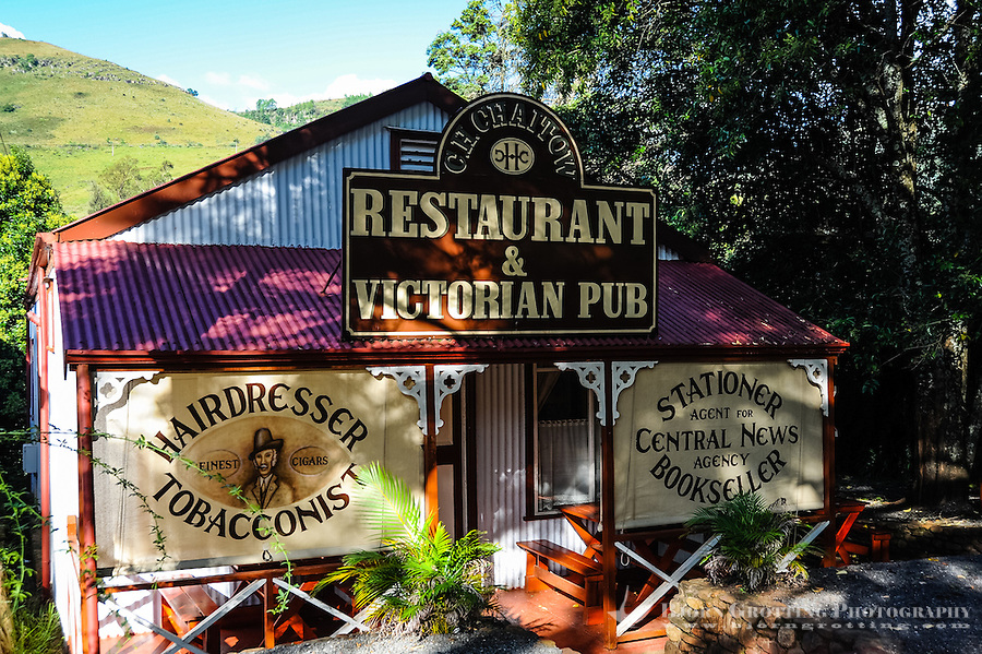 Restaurant. Pilgrim's Rest, an old Gold mining town in South Africa declared a national monument.