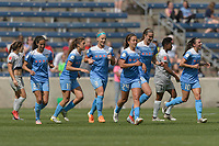 Bridgeview, IL - Saturday May 27, 2017: Chicago Red Stars during a regular season National Women's Soccer League (NWSL) match between the Chicago Red Stars and the North Carolina Courage at Toyota Park. The Red Stars won 3-2.