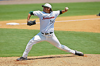 June 03, 2011:    Miami Hurricanes lhp Steven Ewing (55) pitches during NCAA Gainesville Regional action between Jacksonville Dolphins  and Miami Hurricanes played at Alfred A. McKethan Stadium on the campus of Florida University in Gainesville, Florida. Miami defeated Jacksonville 7-2. ........