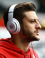 Adam Lallana of Liverpool during the Barclays Premier League match between Swansea City and Liverpool played at the Liberty Stadium, Swansea on 1st May 2016