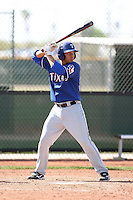Jorge Alfaro, Texas Rangers minor league spring training..Photo by:  Bill Mitchell/Four Seam Images.