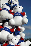 Stuffed toy bears with Paris sign for sale on Concorde Square Place de la Concorde. Paris. France