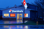 Dominos Pizza shop, Rockland, Maine, USA
