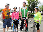 Benny Brogan, Sally Reid, Ciaran McMahon and Ann Nulty who took part in the Ardee Cycle club Mystery cycle tour. Photo: Colin Bell/pressphotos.ie