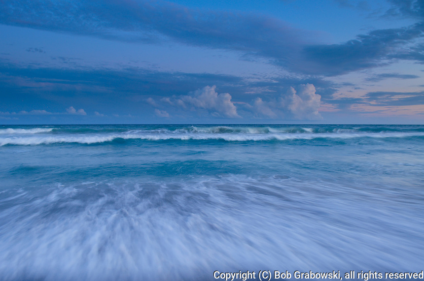 Clouds over the Atlantic Ocean at Emerald Isle on the Outer Banks in North Carolina