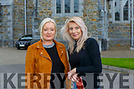 Kate Klaja KIllarney and Helena O'Connor Castleisland on their way into mass  as St Mary's Cathedral reopened  on Monday