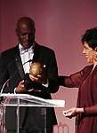 Kenny Leon and Phylicia Rashad during the SDC Foundation presents The Mr. Abbott Award honoring Kenny Leon at ESPACE on March 27, 2017 in New York City.