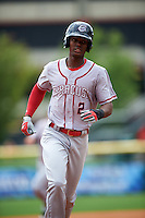 Syracuse Chiefs center fielder Michael Tayler (2) runs the bases on a Jason Martinson (not shown) grand slam home run during a game against the Buffalo Bisons on July 31, 2016 at Coca-Cola Field in Buffalo, New York.  Buffalo defeated Syracuse 6-5.  (Mike Janes/Four Seam Images)