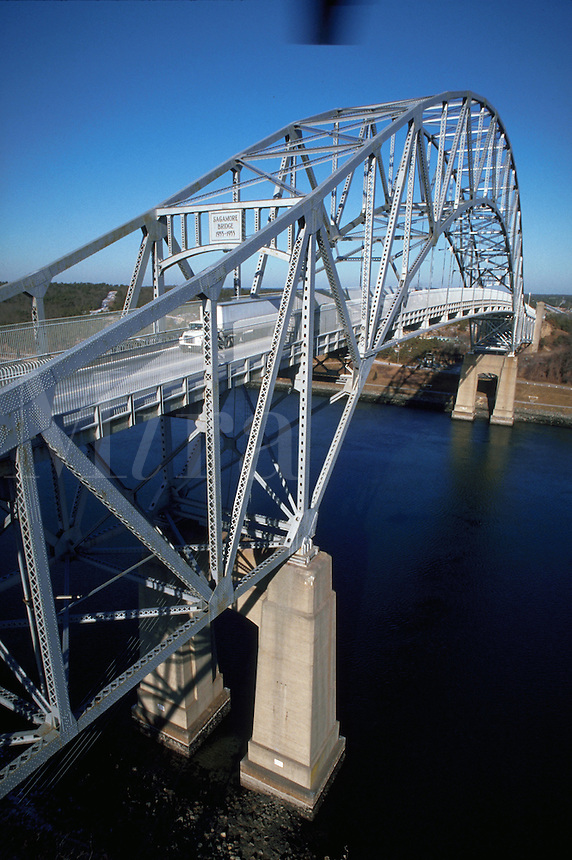 Sagamore Bridge spanning the Cape Cod Canal. Massachusetts.