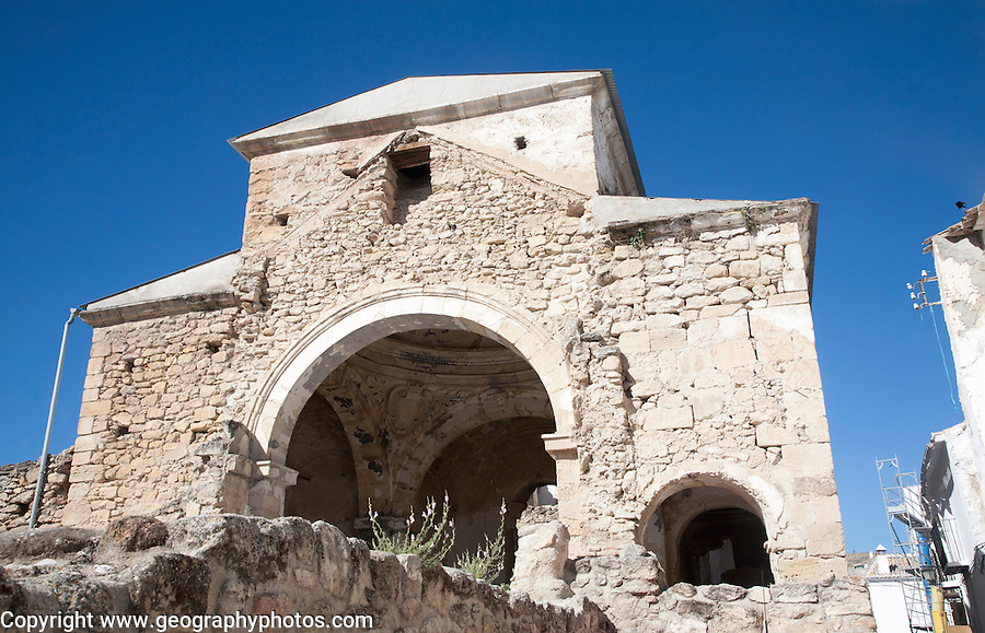 Ruins of Las Angustias church in Alhama de Granada, Spain