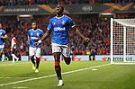 19.09.2019 Rangers v Feyenoord: Sheyi Ojo celebrates his goal