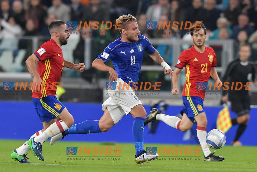 Dani Carvajal Spain, Ciro Immobile Italia <br /> Torino 06-10-2016 Juventus Stadium <br /> World Cup Qualifiers Italy - Spain / Italia - Spagna. Foto Andrea Staccioli / Insidefoto
