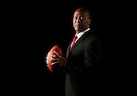 TAMPA, FL - JANUARY 6, 2014: Head Coach Lovie Smith of the Tampa Bay Buccaneers at One Buccaneer Place prior to his introductory press conference on Monday January 6, 2014 (photo by Matt May/Tampa Bay Buccaneers)