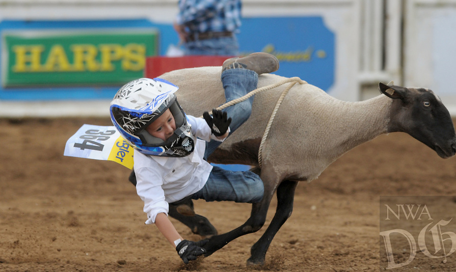 NWA Democrat-Gazette/BEN GOFF @NWABENGOFF<br /> Scenes Friday, June 23, 2017, during the third night of the 73rd annual Rodeo of the Ozarks at Parsons Stadium in Springdale.