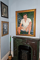 US, Florida, Key West. Interior of Ernest Hemingway Home.