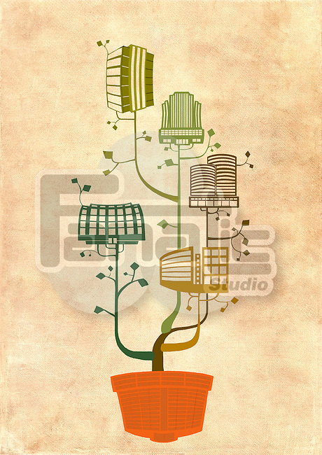 Illustrative image of potted plant representing business growth